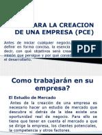 Plan Para La Creación de Una Empresa