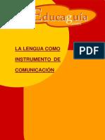 La Lengua Como Instrumento de Comunicacion