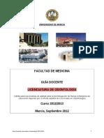 Guía Licenciatura Odontología 2012-2013