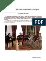 Le Son Et Les Instruments