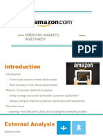 The failure of Amazon in Chinese market and prediction for emerging market