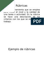 Rúbricas y Evidencias Plenaria