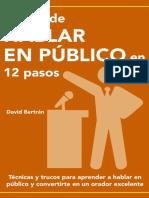 El Arte de Hablar en Publico David Bertran