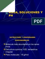 Agua, Soluciones y pH