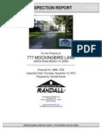 Inspection of 777 Mockingbird Lane