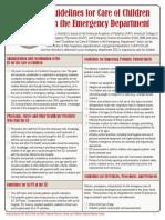 Pediatric Readiness Guidelines Checklist
