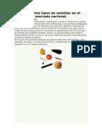 Diferentes Tipos de Semillas en El Mercado Nacional