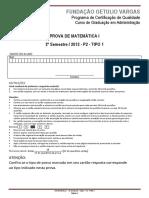 2012.2 - p2 - Matemática i