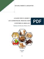 Analize Fizico-chimice Ale Alimentelor