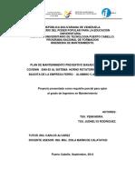PLAN DE MANTENIMIENTO PREVENTIVO BASADO EN LA NORMA COVENIN   3049-93 AL SISTEMA  HORNO ROTATORIO SECADOR DE BAUXITA DE LA EMPRESA FERRO -  ALUMINIO C.A., FERRALCA.