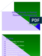 Ethical Issues in Human Resource Management
