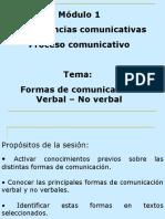 Copetencias comunicativas, Formas de Comunicacion Verbal No Verbal