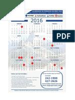 Calendario Feriados Fertur Peru 2016 PDF