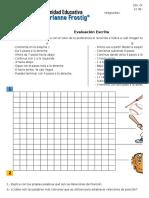 Evaluación Matemática - Relaciones de Posición - 2do Grado - Marianne Frostig - 2015