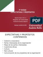 5ª Unidad- Expectativas y Propósitos