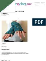 Alice-Inspired Mitts Crochet Pattern - CrochetMe