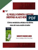 El Modelo Formativo Integral Orientado Al Alto Rendimiento
