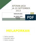 Laporan Jaga 20 September