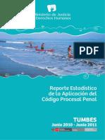 Reporte Estadístico de La Aplicación Del Código Procesal Penal Distrito Judicial de Tumbes