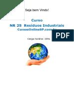 Curso Nr 25 Residuos Industriais Sp 59090