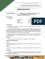 Memoria Descriptiva Liquidación posta.doc