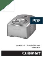 15912 Cuisinart Gelato IceCream Maker Instructions