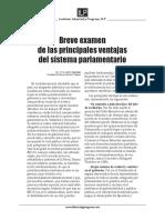 Ventajas de Los Sistemas Parlamentarios