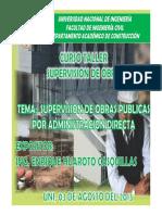 Supervisión de Obra Por Administración Directa