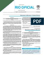 Diario oficial de Colombia n° 49.759. 18 de enero de 2016
