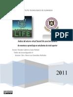 Analisis Del Entorno Virtual Second Life