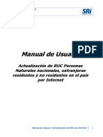 Manual de Usuario Actualización RUC Internet