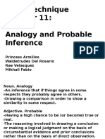 Analogy and Probable Inference
