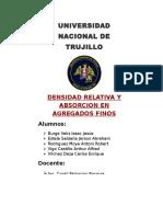 Caratula de Inf. Densidad Relativa