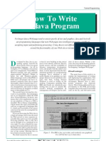 How to Write a Java Program