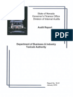 Audit Report on Taxicab Authority