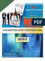 Sesion 5 Generadores de Publicaciones y Cuestionarios en Linea_2016