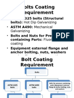 Bolts Coating Requirement