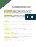 Key Terms Chapters 17-20 AP European