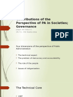 Contributions of the Perspective of PA