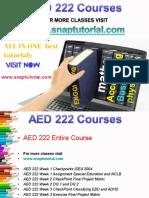 AED 222 Proactive Tutors/snaptutorial
