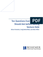 Bessemer Guide to Venture Debt