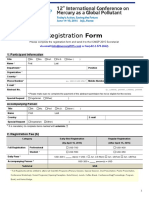 ICMGP 2015_Registration Form, International Conference on Mercury as Global Pollutant