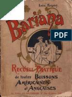1896 Bariana - Recueil de toutes boissons americains et anglaises