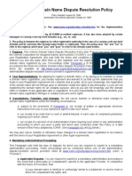 ICANN Uniform Domain Name Dispute Resolution Policy