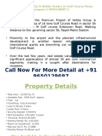 Pre-leased Property in Vatika Towers on Golf Course Road Gurgaon 9650129697