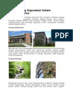 Analogi Dalam Teori Arsitektur