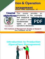 Production Mangement Intro...