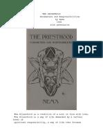 The PRIESTHOOD -- Parameters and Responsibilities - Nema 1985