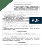 La grammaire théorique du français