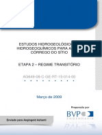 Estudos Hidrológicos Mina CdS BVP